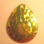 Colorado Size 4, Foilistic Chartreuse and Orange, Silver Back