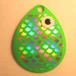 Colorado Size 4, Green Fish Scale Bubble Glow Eye