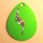 Colorado Size 4, Green Lightning Bolt Sticker