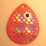 Colorado Size 4, Orange Fish Scale Bubble Glow Eye