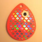 Colorado Size 4, Orange Fish Scale Bubble Glow Eye